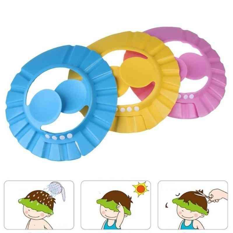 Baby Shower Shampoo Cap, Wash Hair Kid Bath Visor Hats
