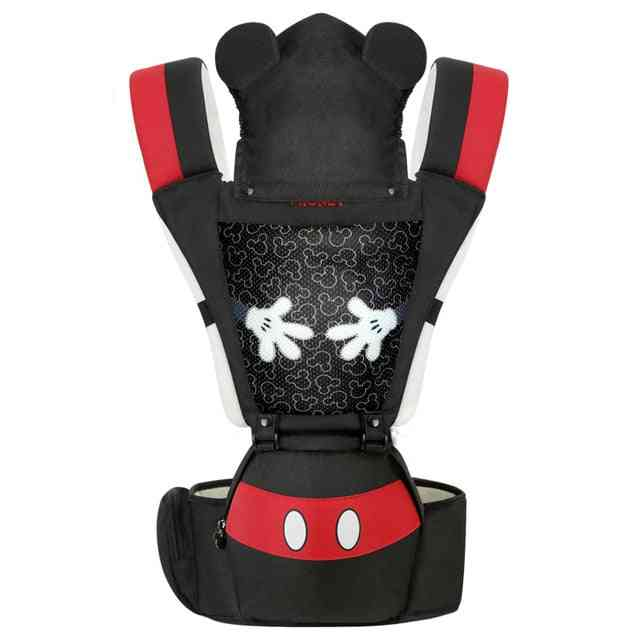 Ergonomic Baby Carrier, Infant Kid Hip Seat, Sling Front Facing Kangaroo Minnie Wrap Carrier For Travel