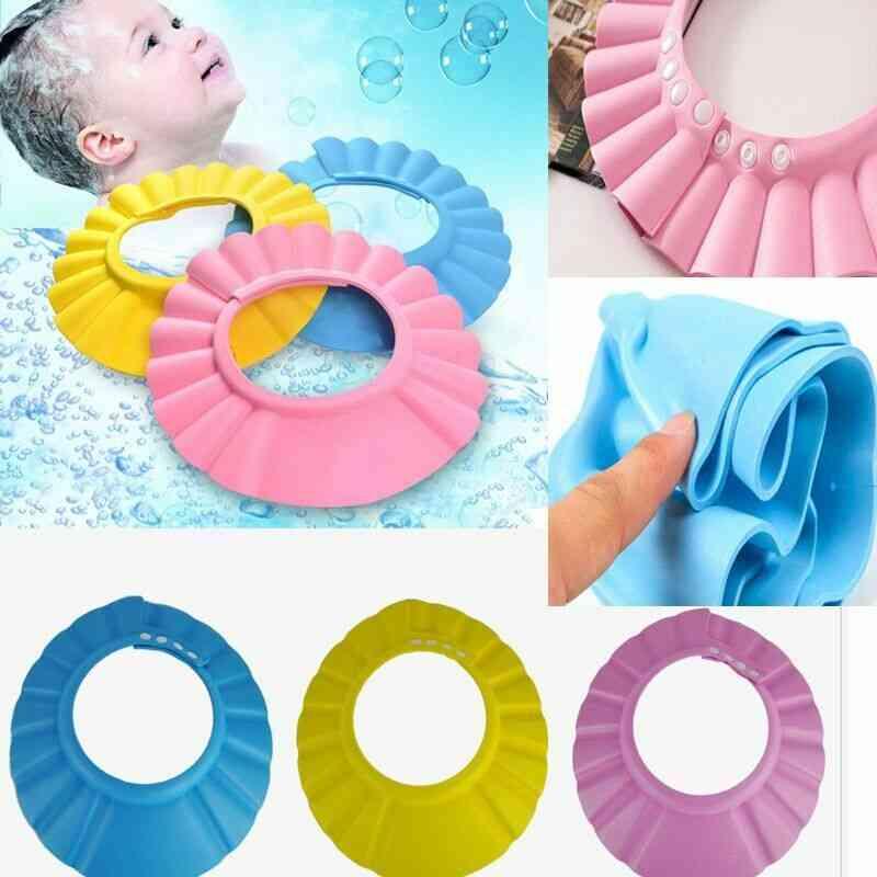 Baby Adjustable Soft Shampoo Bath Shower Cap, Shampooing Head To Baby Shower