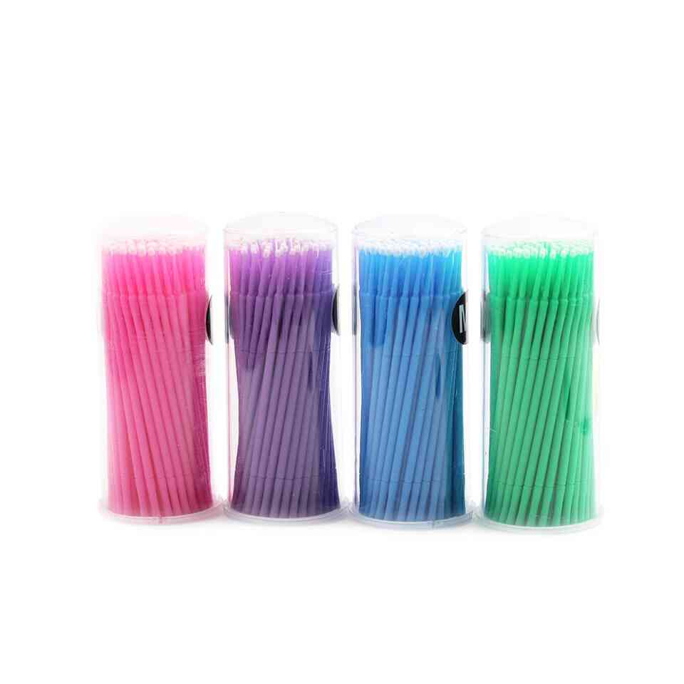 100pcs Micro Durable Swab Lint Individual Eyelash Brush Glue Removing Tool