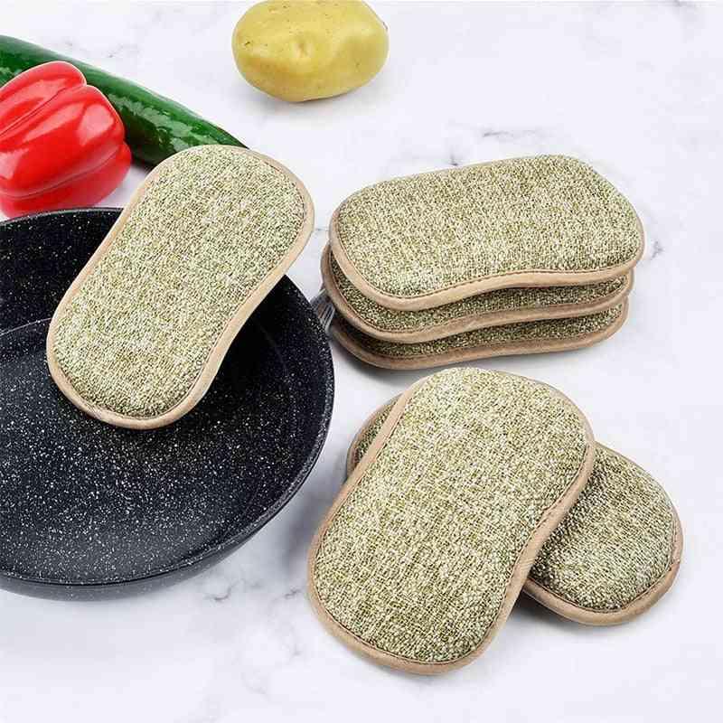 10pcs Household Magic Kitchen Cleaning Scrub Sponge