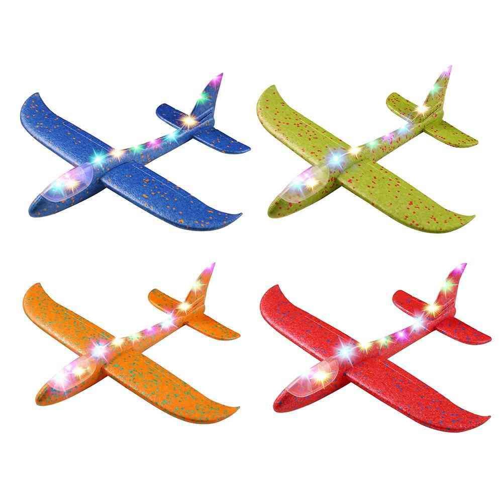 36/48cm Led Hand Throw Flying Glider Planes Foam Epp Resistant Aircraft Outdoor Toy