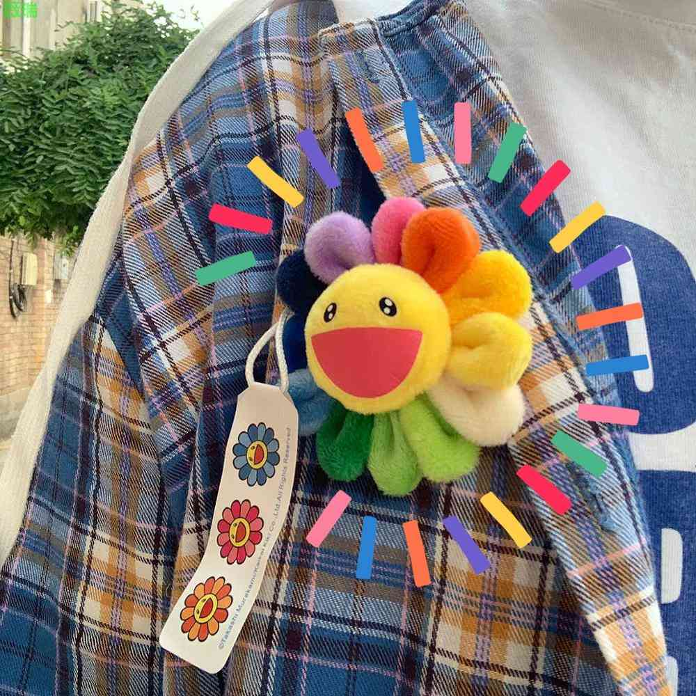 Lovely Sun Flower Cloth Colorful Brooch