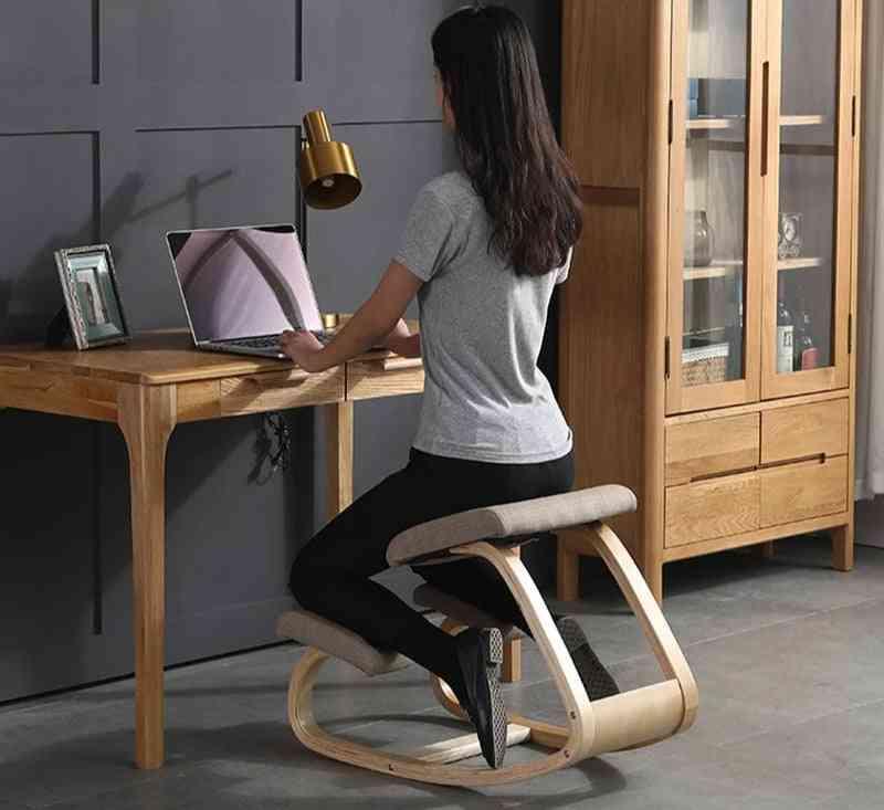 Original Kneeling Chair Stool Ergonomic Correct Posture Knee Anti-myopia Wooden Home Office Furniture