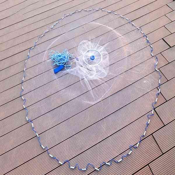 Fishing Net Monofilament Nylon Line Hand Throwing Fishnet Folding Network
