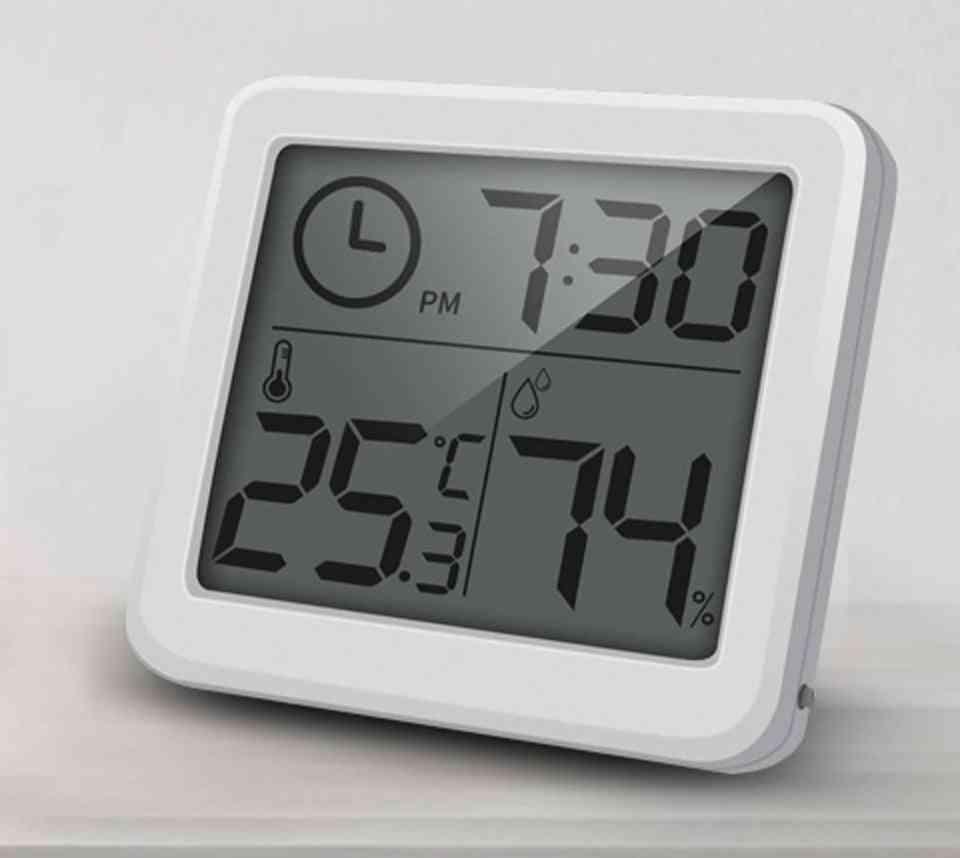 Baby Room Digital Lcd  Temperature And Humidity Environmental Testing Monitor