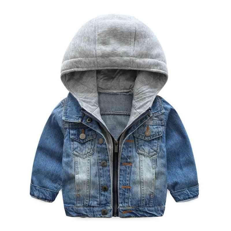 Autumn Jacket Kids Outerwear Cute Car Windbreaker Denim Jeans Coats