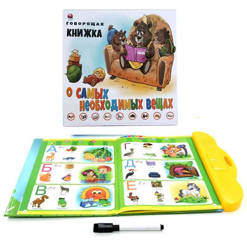 Kids Russian Book Reading Machines, Learning Alphabet, Baby Early Educational, Parent-child Interactive Game
