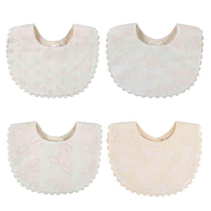 Embroidery & Printing Saliva Towel Feeding Burp Cloth, Cotton Bib Scarf