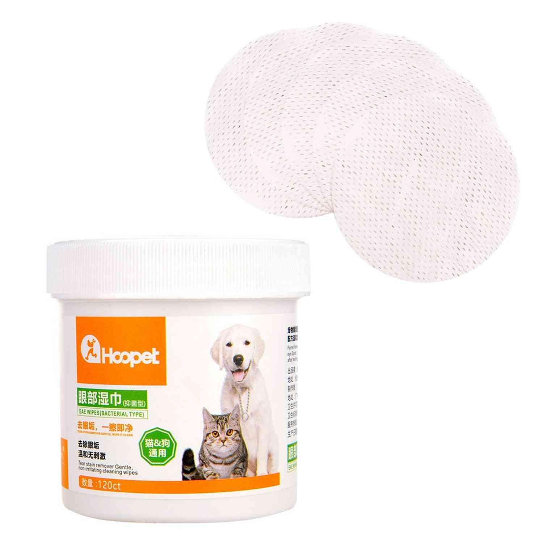 120pcs Pet Dog Cleaning Pads Facial Paper Towels Pet Eye Wet Wipes