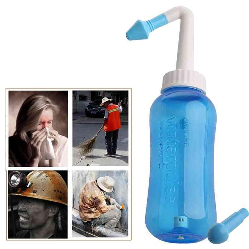 Nose Wash System Sinus & Allergies Relief Nasal Pressure Rinse Neti Pot