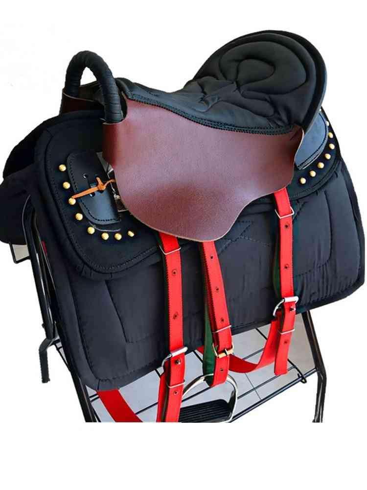 Armrest Pure Leather Saddle Complete Set