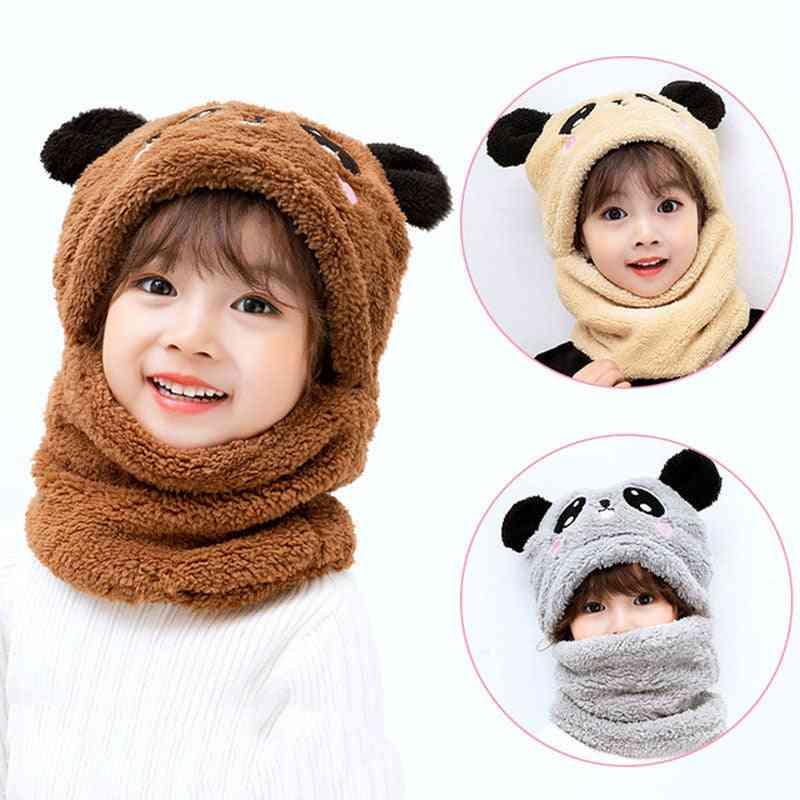 Winter Hat Fleece Kids Caps Cartoon Hat