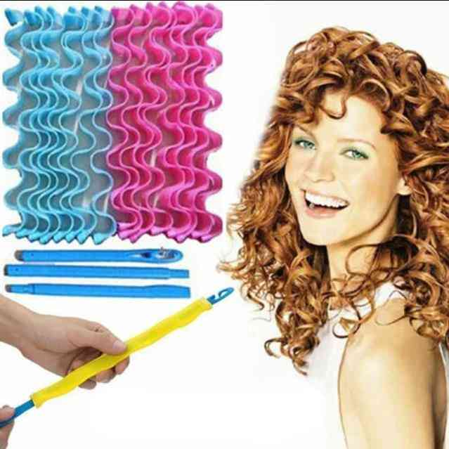 Women Fashion Magic Hair Curl Formers Spiral Ringlets Leverage Rollers
