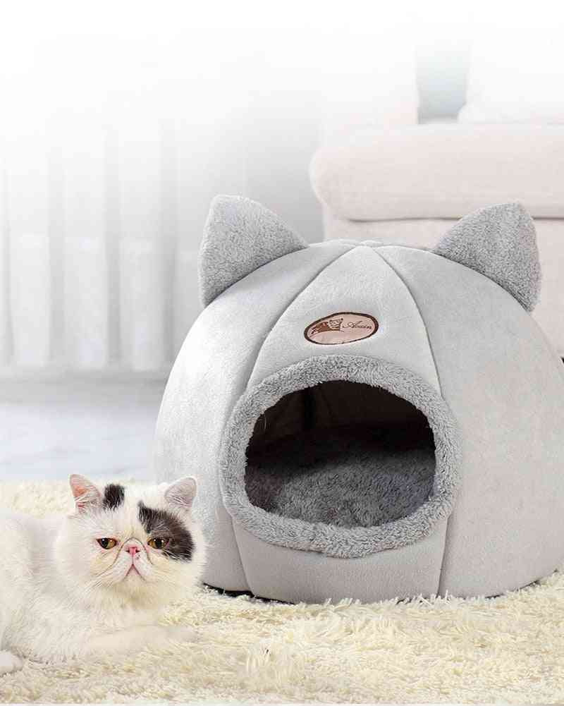 Pet Bed Cave House, Cat Ear, Litter Mat, Home Accessories, Pour Chat Cozy Sleeping