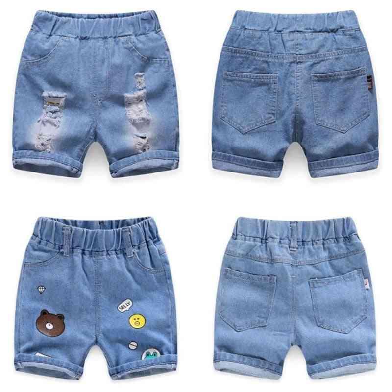 Children Summer Casual Hole Jeans Cute Cowboy Denim Pants