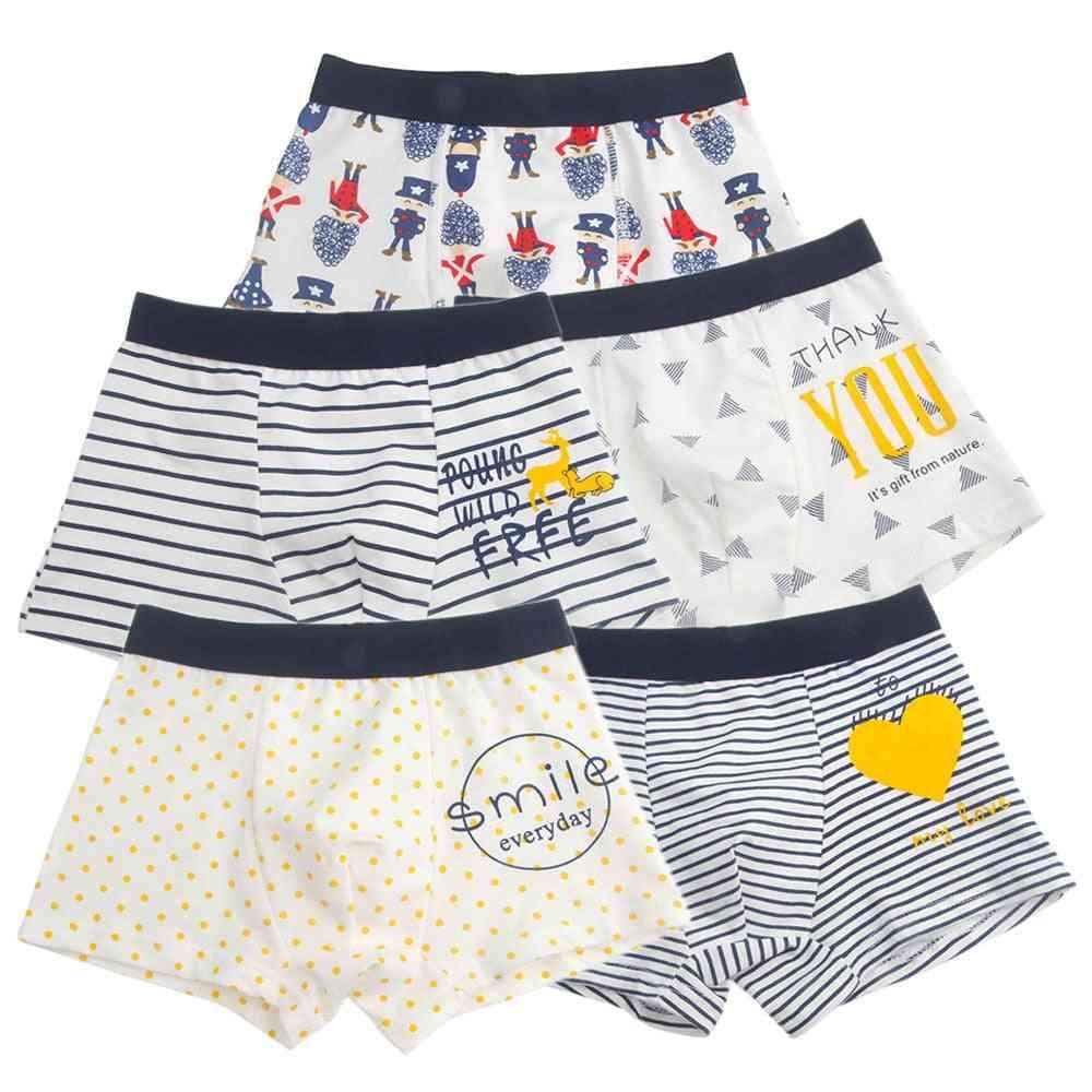 Boys Underwear Boxer High Quality, Cotton Panties,, Cartoon, Kids Underpants