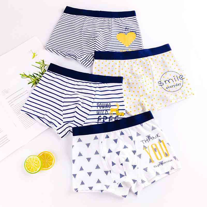 Kids Underwear, Cartoon's Shorts, Panties For Baby, Toddler Boxers, Stripes, Teenagers Cotton Underpants