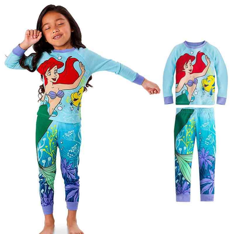 Mermaid Sleeping Beauty Kids Pajamas Sets, Mickey Baby And Clothes, Cartoon Sleepwear