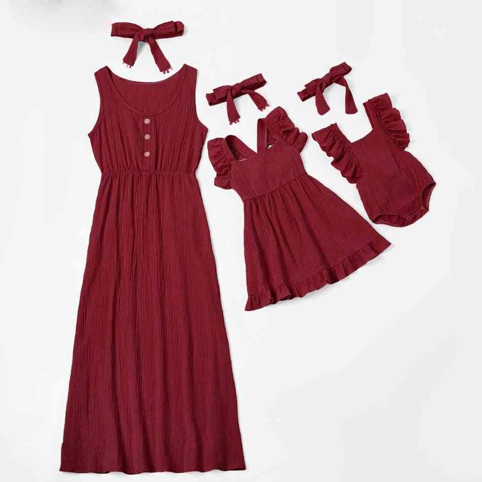 Family Look Mother Daughter Matching Dresses ( Set 1)