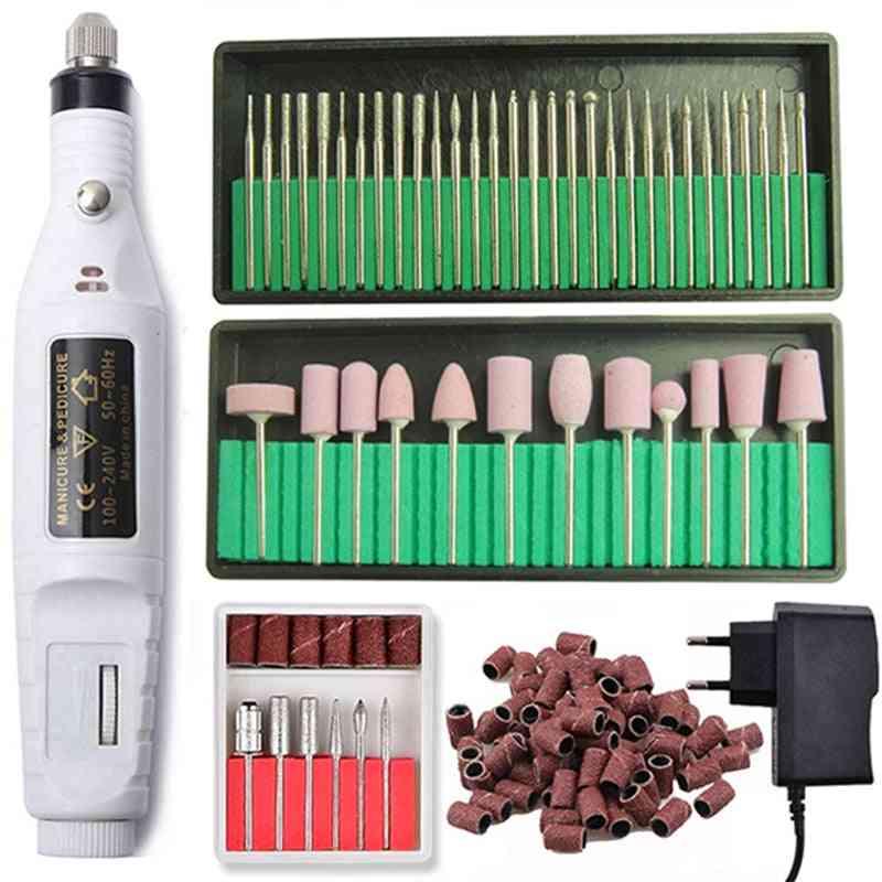 Professional Electric Nail Drill Machine Pedicure Manicure Cutters Set
