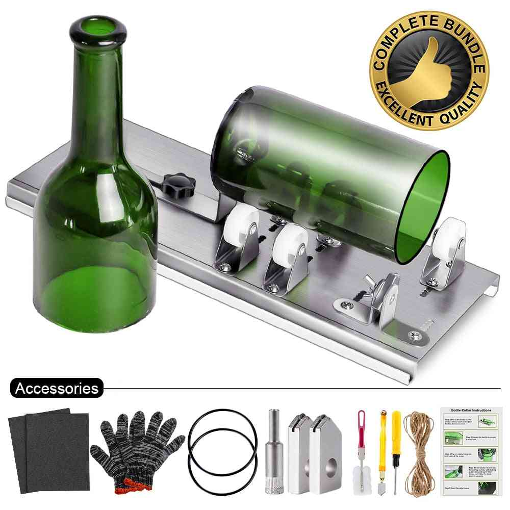 10pcs Glass Bottle Cutter Diy Machine For Cutting Wine Beer
