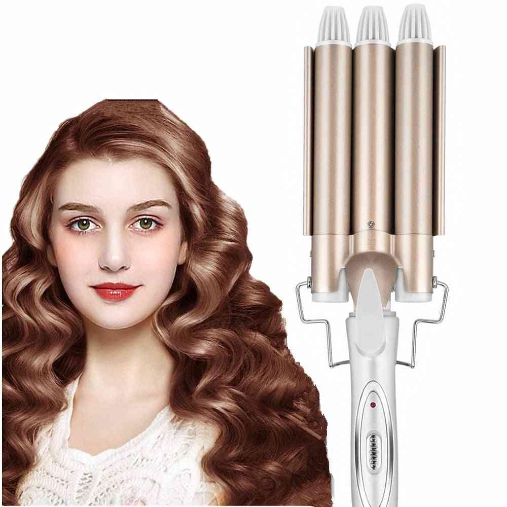 Ceramic Triple Barrel Hair Curler Waving Styling
