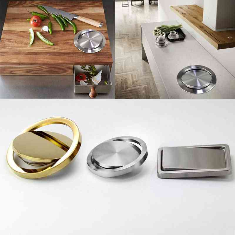 Stainless Steel Flap Flush Recessed Built-in Balance Swing