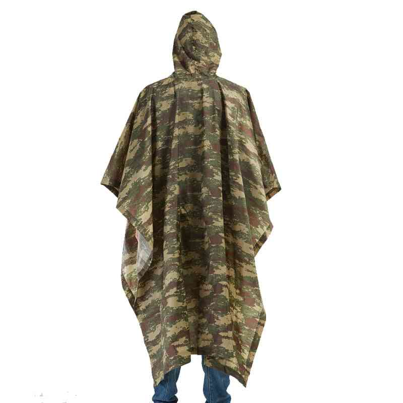 Impermeable Raincoats Women Men Jungle Poncho Backpack Camouflage Cycling Climbing Hiking Travel (camouflage One Size)