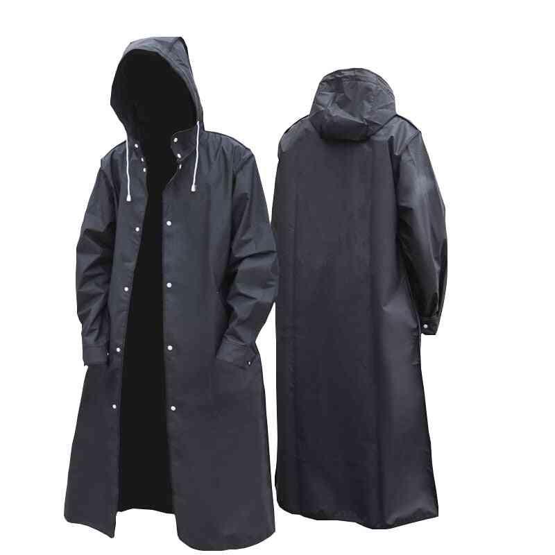 Fashion Adult Waterproof Long Raincoat Women Men Hooded For Outdoor Hiking Travel Fishing Climbing