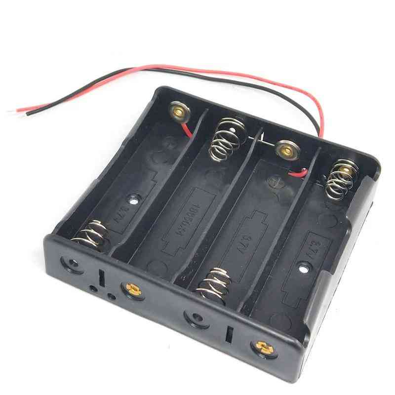 Battery Holder Storage Box Case 1 2 3 4 Slot Batteries Container Abs 18650 Power Bank Cases