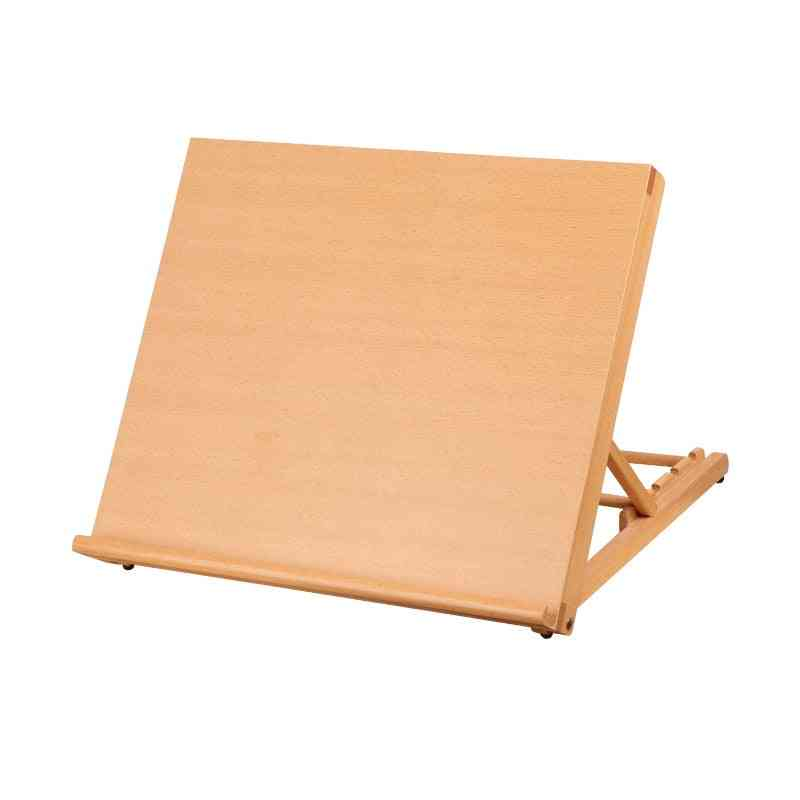 Portable Sketch Easel, Wooden Desktop, Artist Tabletop, Drawing Board, Stand For  Watercolor, Oil Painting, Art Supplies