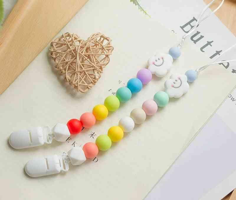 Baby Silicone Rainbow Cartoon Teething Chain