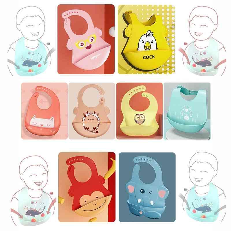 Adjustable Different Styles Animal Picture Waterproof Saliva Dripping Bib