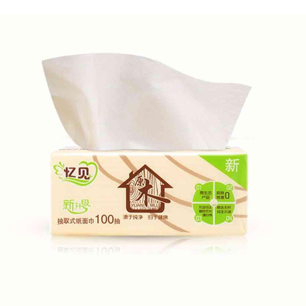 Wood Pulp Bamboo Facial Tissue