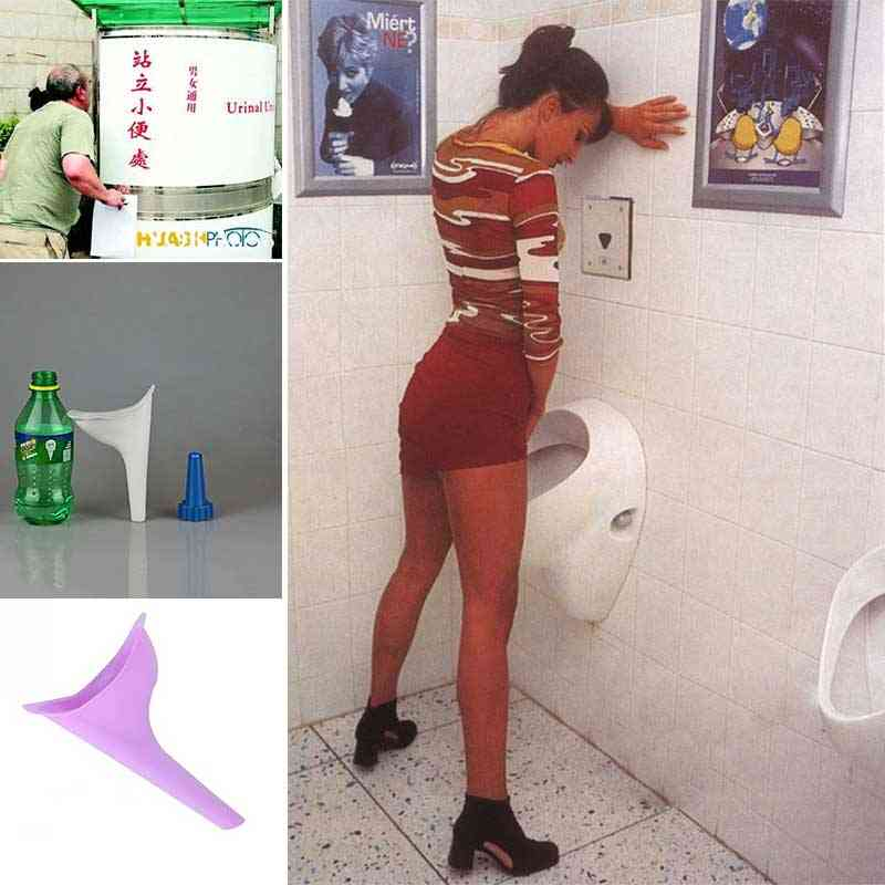 Portable Stand Up & Pee Women Urinal Toilet