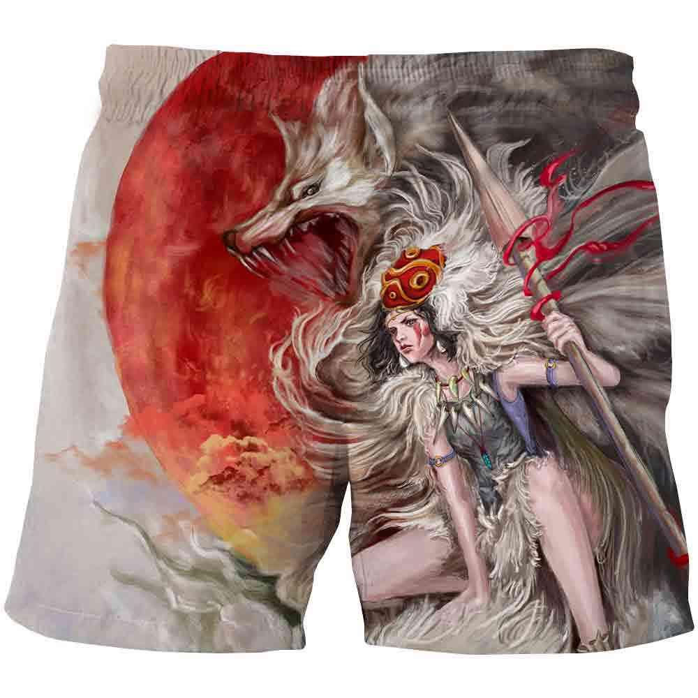 Wolf Shorts Kids Cartoon, Shorts Summer Beach Loose Casual Pants