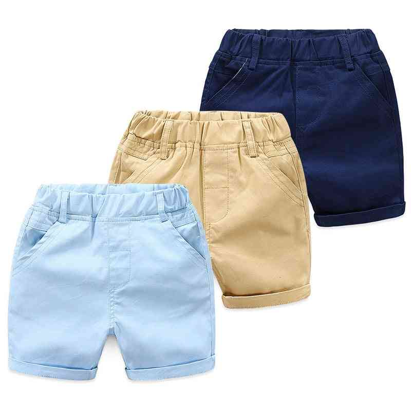 Summer England, Cotton Sports, Solid Color Shorts, Baby Boy