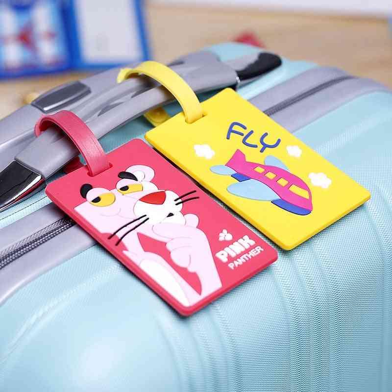 Creative Luggage Tag Animal Cartoon Silica Gel Suitcase Id Address Holder