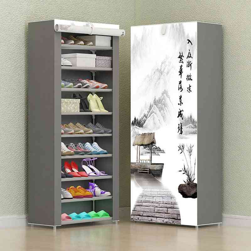 Simple Combination Cabinet Nonwoven Fabric Storage Shoes Rack