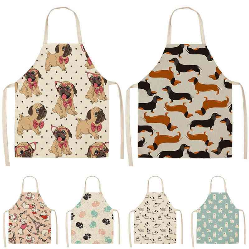 Kitchen Apron, Cotton Linen Bib 53*65cm For Cooking Baking Cleaning Tool