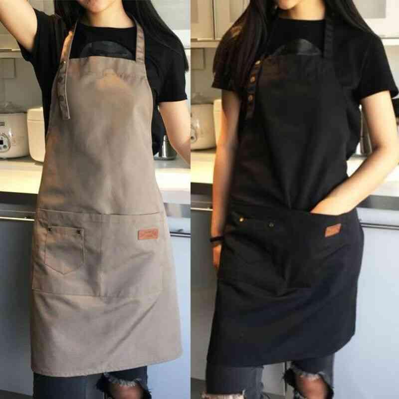 Kitchen Apron/chef Waiter Cafe Shop Bbq & Hairdresser Aprons Bibs