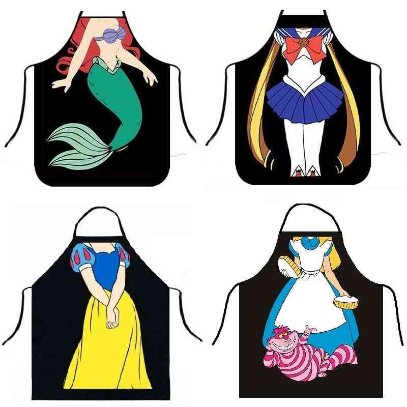 Funny Mermaid  Aprons For Dinner Party & Cooking Adult Baking Accessories