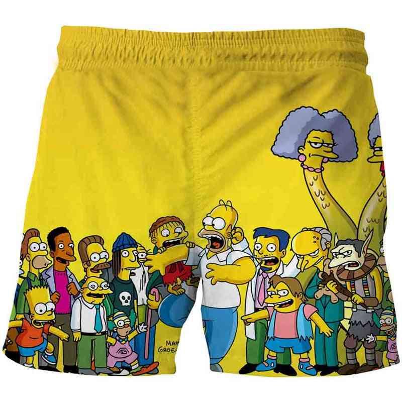 Simpson Shorts Teenagers Cartoon Pants, Kids Baby 3d Clothes