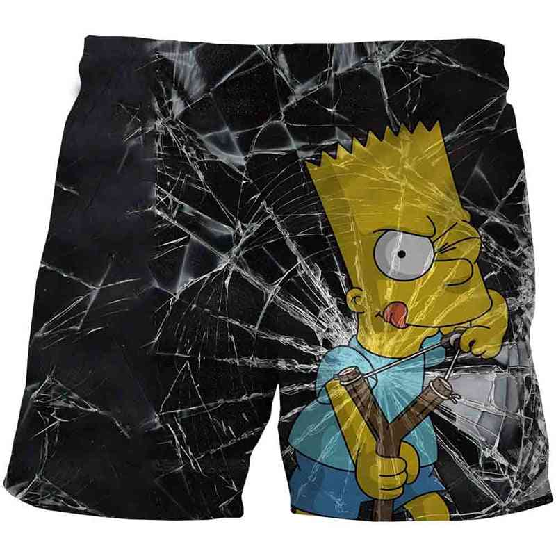 Shorts Summer Teenagers Cartoon Pants, Kids 3d Clothes