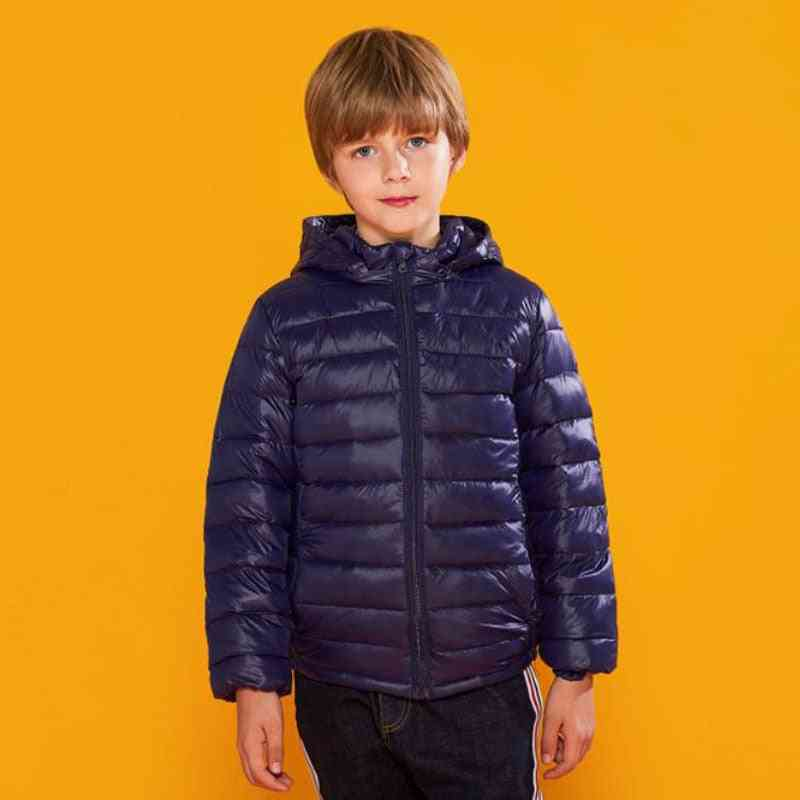 Winter Hooded's Down Jackets For Candy Color Down Coats