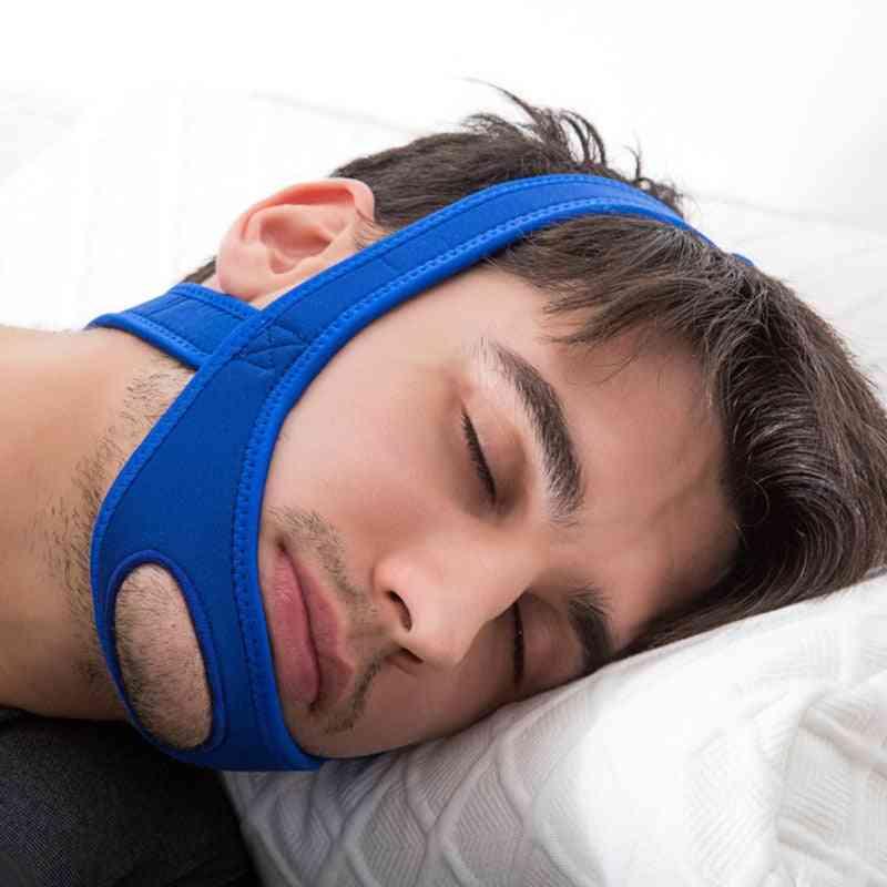 Neoprene Anti Snore Stop Chin Strap Belt, Anti-apnea Jaw Solution Sleep Belt