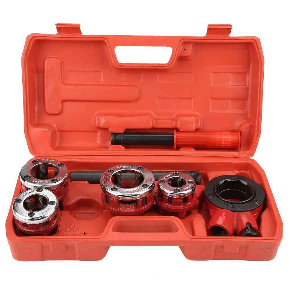 Dies Manual Plumber Pipe Threading Kit Threader Tool