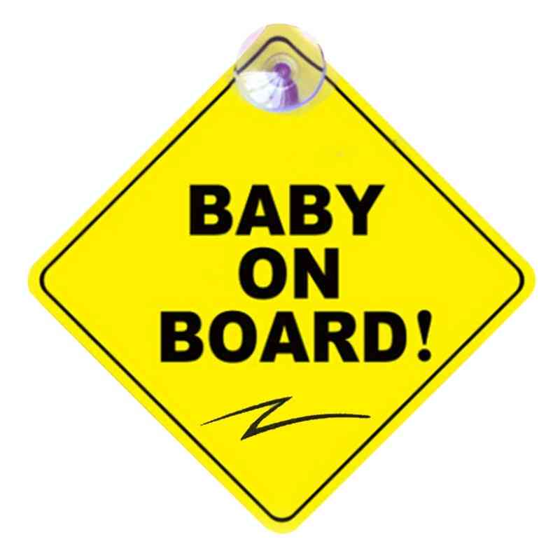 Car Baby On Board Warning Safety Sign Sticker