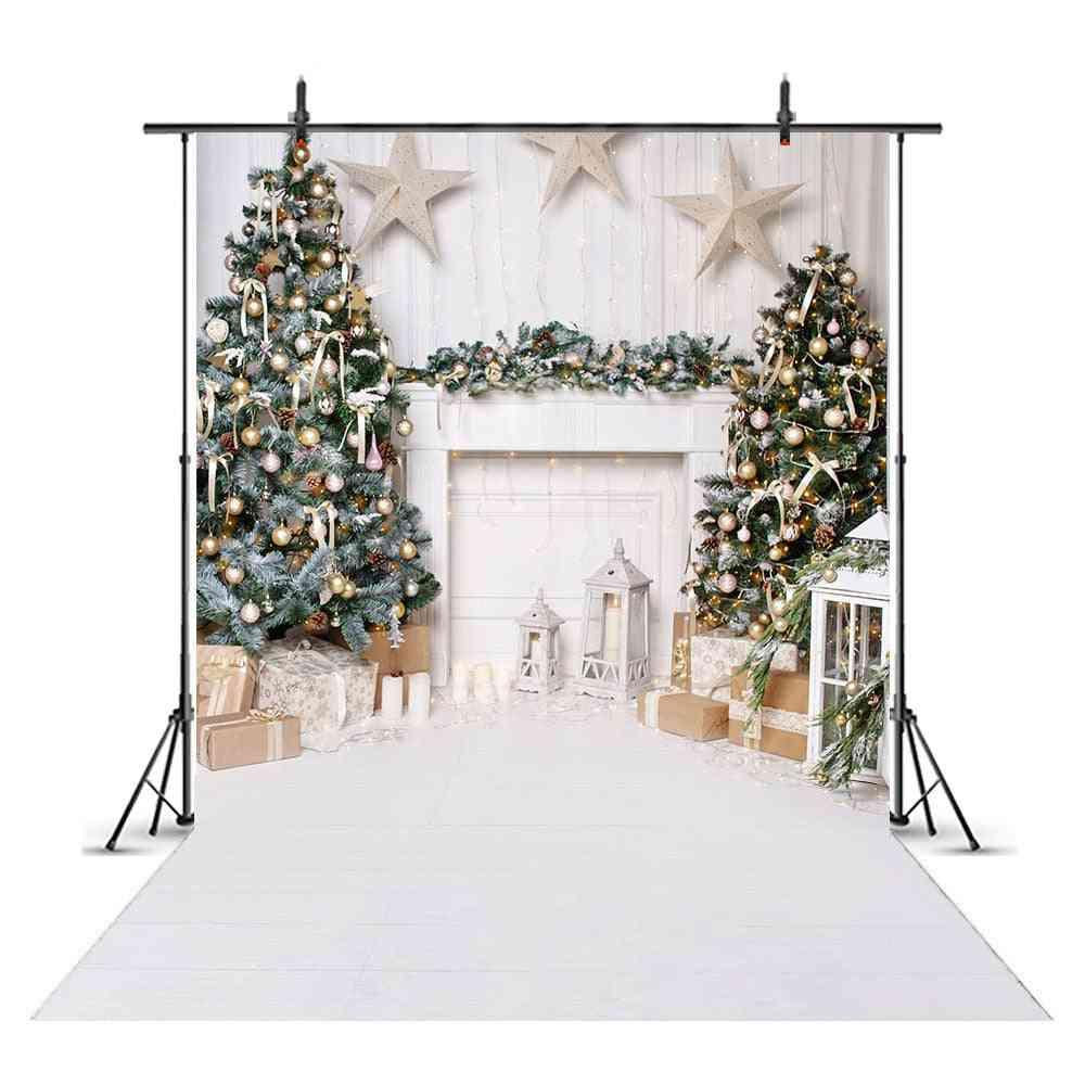 Snow Portrait Backdrop For Photography Snowflake Photo Christmas Tree